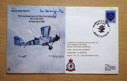 Jersey 1985 RAF Flight Cover Yt.245 Westland Wapiti 70th Anniversary No.II Squadron Signed By Pilot Ian Hollingworth. - Militaria