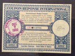 COUPON REPONSE  INTERNATIONAL GILBRALTAR  U.S.A.15/10 Cents - Posta
