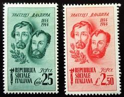 1944 Italie Yt RSI 32, 34 . 12/01/2019 Portrait Of Brothers Bandiera, Attilio And Emilio . Neufs  Traces Charnières - 1944-45 République Sociale