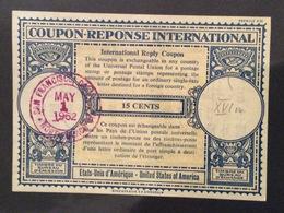 COUPON REPONSE  INTERNATIONAL GILBRALTAR  U.S.A.15 Cents - Posta