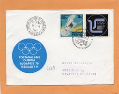 Hungary 1975 FDC Mailed To USA - FDC
