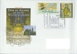 Deutschland SSt. Aachen 'Aachener Dom UNESCO-Welterbe' / Germany Pmk. 'Aachen Cathedral UNESCO World Heritage' 2018 - Churches & Cathedrals