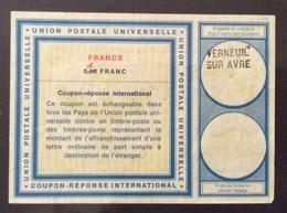 COUPON REPONSE  INTERNATIONAL  FRANCE FRANCIA 1/0,90 Franc - Posta