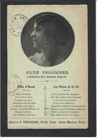 Autographe Signature à L'encre Jane COLOMBEL - Autographes