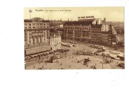 Cpa - Belgique - BRUXELLES - Place Rogier Vers Jardin Botanique - AU BON MARCHE Camion Tramway Palace PERLE 28 - Squares