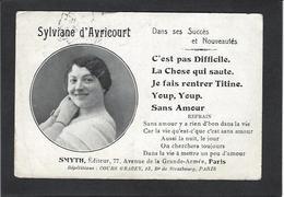 Autographe Signature à L'encre Sylviane D'Avricourt - Autographes