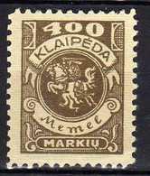 Memel / Klaipeda 1923 Mi 148 * [120119XXII] - Klaipeda