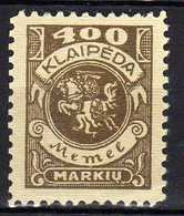 Memel / Klaipeda 1923 Mi 148 * [120119XXII] - Memelgebiet