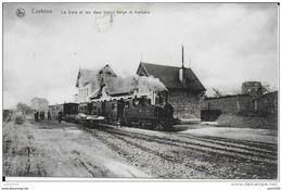 CORBION ..--GARE Et Les 2 TRAMS ,  Belge Et Français . Eraflure En Dessous Du Titre !!!!!!!!!! - Bouillon