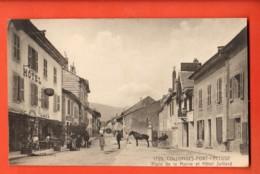 TRJ-23 Collonges-Fort-l'Ecluse Place De La Mairie Et Hotel Julliard. ANIME, Attelage. Circulé - France