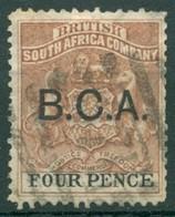 British South Africa Company - 1891/1895 - Yt 22 - Série Courante Surchargé B.C.A. - Oblitéré - Géorgie