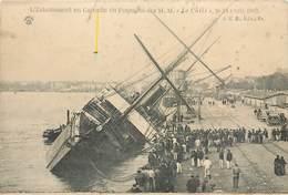 """CPA Bordeaux Echouement En Garonne Du Paquebot Des M.M. """"Le Chili"""" 24 Avril 1903 Non Circulée Précurseur - Paquebots"""