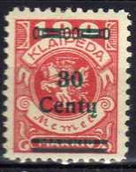 Memel / Klaipeda 1923 Mi 227 * [120119XXII] - Memelgebiet