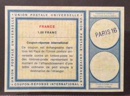 COUPON REPONSE  INTERNATIONAL  FRANCE FRANCIA 1 Franc - Posta