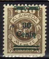 Memel / Klaipeda 1923 Mi 228 * [120119XXII] - Memelgebiet