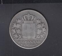 Griechenland Greece 5 Drachmai 1833 - Grèce
