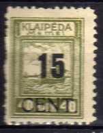Memel / Klaipeda 1923 Mi 193 * [120119XXII] - Memelgebiet