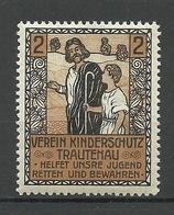 Czech Area German Verein Kinderschutz Trautenau Child Protection Charity Vignette MNH - Erinnophilie
