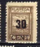 Memel / Klaipeda 1923 Mi 194 * [120119XXII] - Memelgebiet