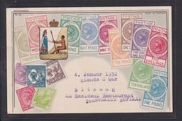 B29 /  Briefmarken Auf Ansichtskarte Australien / Potsdam 1931 - Timbres (représentations)