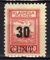 Memel / Klaipeda 1923 Mi 196 * [120119XXII] - Memelgebiet