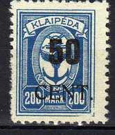 Memel / Klaipeda 1923 Mi 197 * [120119XXII] - Memelgebiet