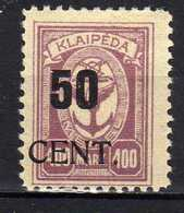 Memel / Klaipeda 1923 Mi 199 * [120119XXII] - Memelgebiet