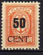 Memel / Klaipeda 1923 Mi 200 * [120119XXII] - Memelgebiet
