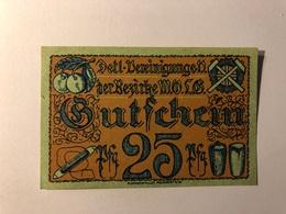 Allemagne Notgeld Wolg 25 Pfennig - [ 3] 1918-1933 : République De Weimar