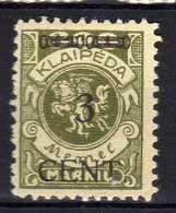 Memel / Klaipeda 1923 Mi 179 * [120119XXII] - Memelgebiet