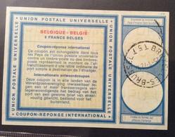 COUPON REPONSE  INTERNATIONAL BELGIO BELGIQUE  8 F. - Posta