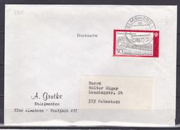 BRD, MiNr. 935; EF Auf Portoger. Brief / Drucksache Von Elmshorn Nach Helmstedt; B-2206 - [7] Federal Republic