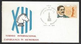 Chess, Cuba Cienfuegos, 16.05.1976, Special Opening Day Cancel On Card, Capablanca In Memoriam Masters Tournament - Schaken