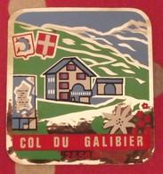Autocollant Col Du Galibier. Savoie. Vers 1960-70 - Aufkleber