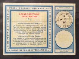 COUPON REPONSE  INTERNATIONAL    GRAN BRETAGNA  10 P. - Posta
