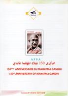 Flyer -150th Anniversary Of Mahatma Gandhi In 3 Languages (Arabic-English-French )3 Scans // Notice - Mahatma Gandhi - Koweït