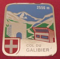 Autocollant Col Du Galibier. Savoie. Alpes. Vers 1960-70 - Autocollants