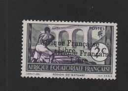Faux Afrique équatorale N° 157a 2 C Double Surcharge Nsg - A.E.F. (1936-1958)