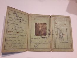 Carte D Identité évacué Obligatoire Habitant Cultivateur De Neufmaison Prés De Saint Ghislain. - Historical Documents