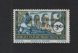 Faux Afrique équatorale N° 158a 3 C Double Surcharge Nsg - A.E.F. (1936-1958)