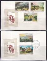 Yugoslavia, 1968, Art, Paintings, Complete Set On Two FDC - Künste