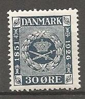 DK  Yv. N°  167  *  30o   Anniversaire Du Timbre   Cote  9  Euro BE   2 Scans - 1913-47 (Christian X)