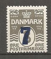DK  Yv. N°  168  *  7o S 8o   Surchargés   Cote  1,5  Euro BE   2 Scans - 1913-47 (Christian X)