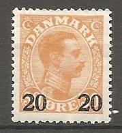 DK  Yv. N°  172  *  20o S 30o   Surchargés   Cote  6  Euro BE   2 Scans - 1913-47 (Christian X)