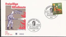 Germany 1970 Freiwillige Hilfsdienste / Volunteer Services, Mi 631  Cancelled First Day Muünster Westf, - [7] West-Duitsland