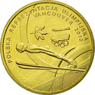 Monnaie, Pologne, Vancouver Winter Olympics, 2 Zlote, 2010, Warsaw, TTB, Laiton - Pologne
