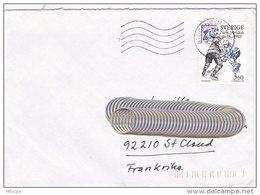 L4G169 SUEDE Lettre Stockholm Pour Saint Cloud France 1988  Affr. 3,60 Hockey New Sweden OMEC - Suède