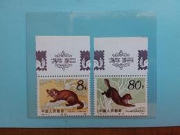 CINA - Fauna - Zibellino - 2 Valori Nuovi ** + Spese Postali - 1949 - ... Repubblica Popolare