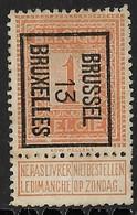 Brussel 1913 Typo Nr. 37B - Vorfrankiert