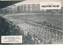 RELAIS - Stade Jean Bouin 1934 - Présentation Des Equipes - Publicité Prestine Velox - Sports
